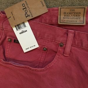 2 Men's Polo Relaxed Stretch Pants. New!